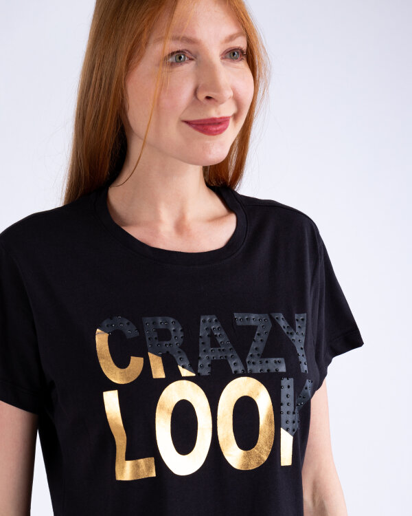 T-Shirt Gas 96835_MILVA CRAZY LOOK_0200 czarny