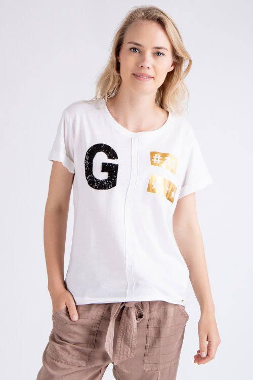 T-Shirt Gas 96837_Miria G#as_0001 Biały Gas 96837_MIRIA G#AS_0001 biały