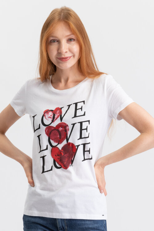 T-Shirt Gas 98478_HANIKA_0001 biały