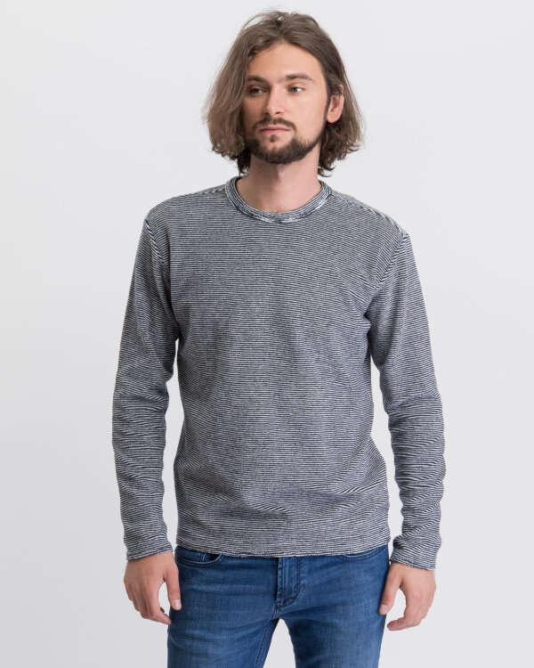 Sweter Knowledgecotton Apparel 30446_1001 granatowy