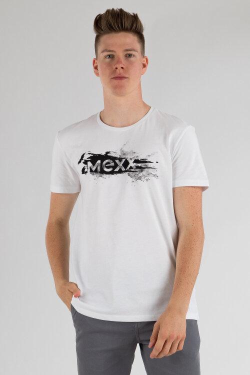 T-Shirt Mexx 50830_Bright White Biały Mexx 50830_BRIGHT WHITE biały