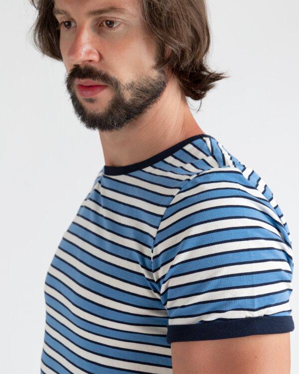 T-Shirt Mexx 50805_RIVIERA/BRIGHT WHITE niebieski