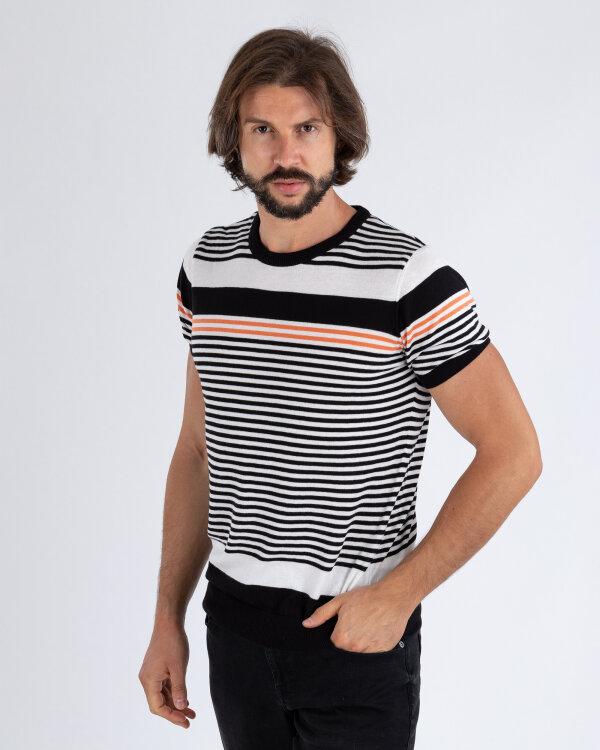 Sweter Mexx 51700_MULTICOLOR STRIPED czarny