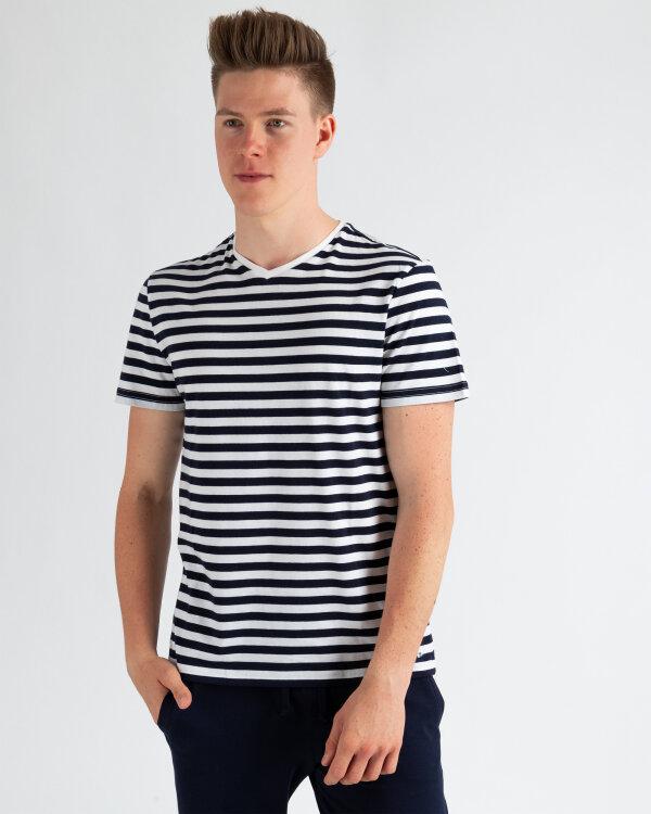 T-Shirt Mexx 51812_NAVY STRIPES czarny