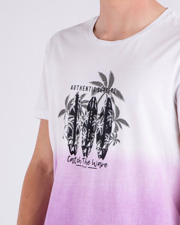 T-Shirt Mexx 51825_BRIGHT WHITE/ORCHID biały