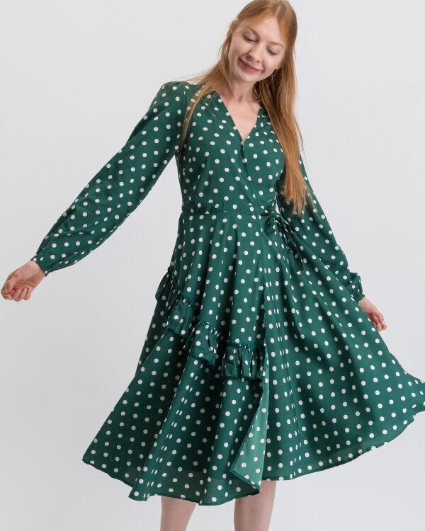 Sukienka Na-Kd 1014-000371_GREEN/WHITE zielony