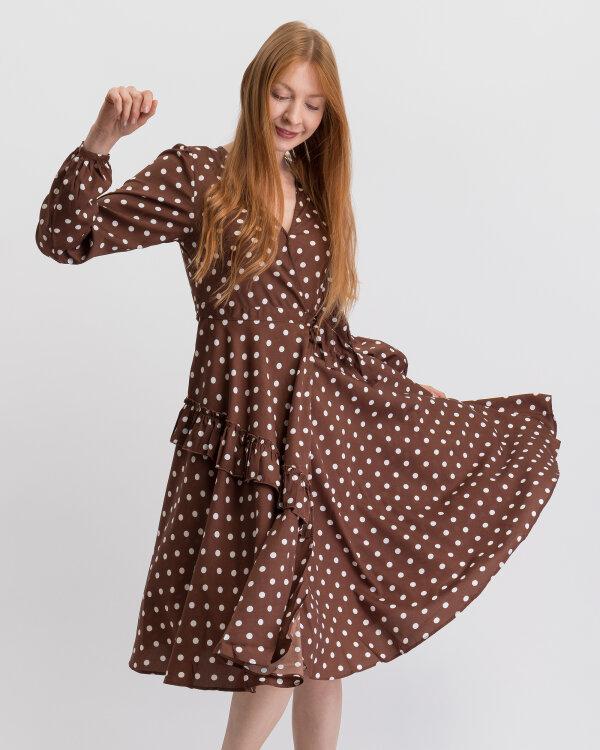Sukienka Na-Kd 1014-000371_BROWN/WHITE biały