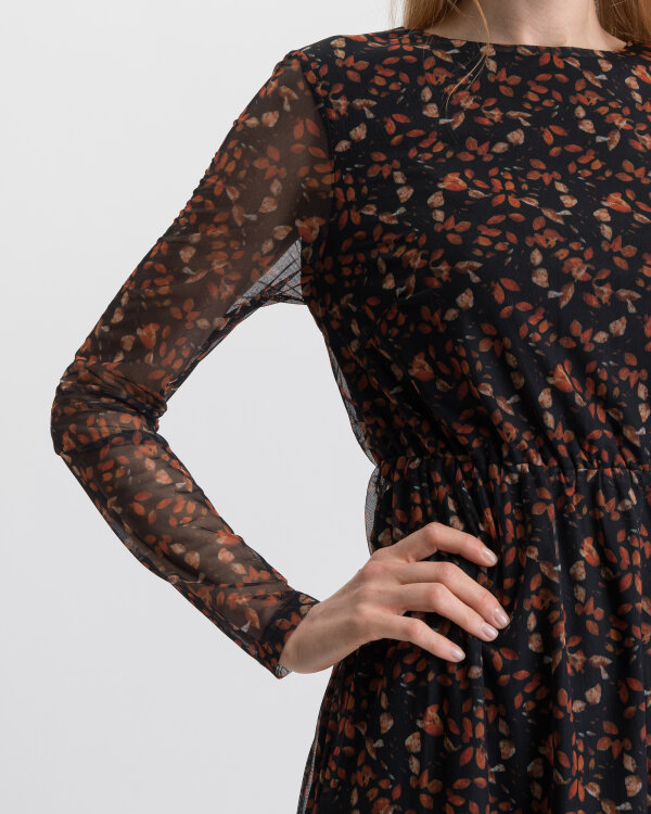 Sukienka Na-Kd 1014-000474_BLACK FLOWER czarny