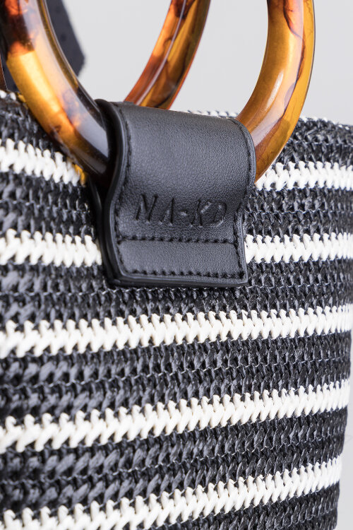 Torebka Na-Kd 1015-001190_BLACK STRIPE biały