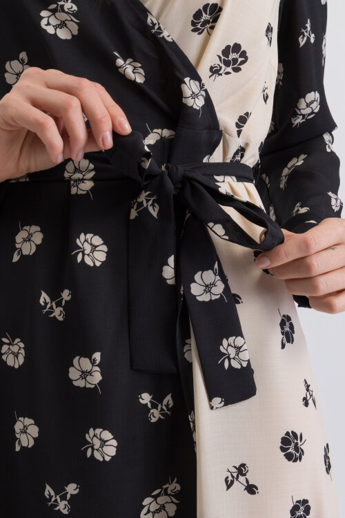 Sukienka Na-Kd 1018-002786_PRINT kremowy