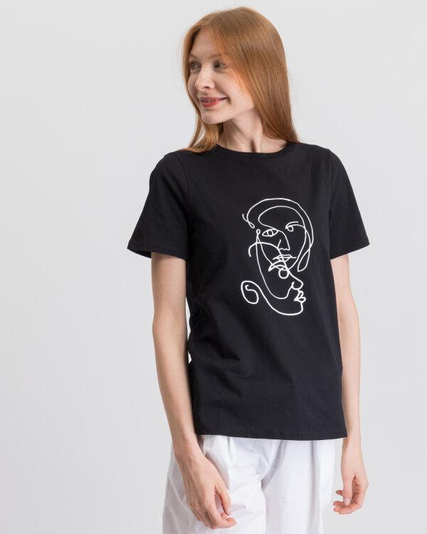 T-Shirt Na-Kd 1018-003321_DEEP BLACK czarny