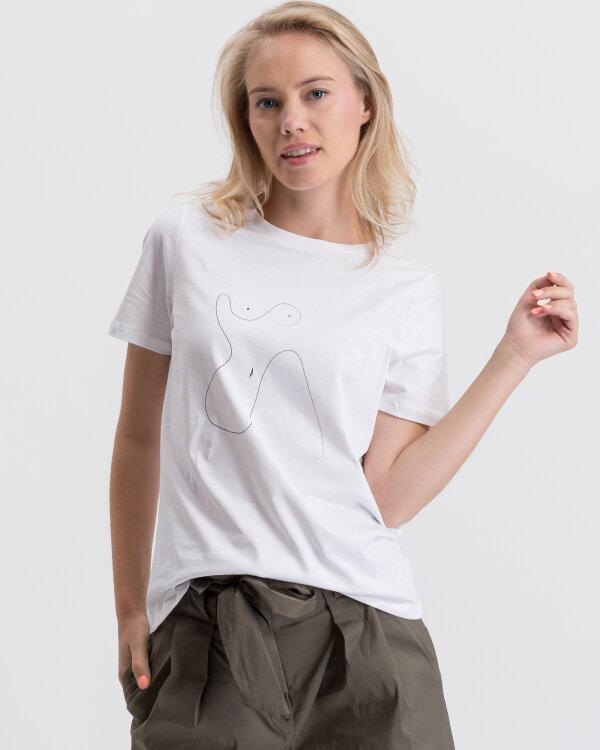 T-Shirt Na-Kd 1018-003334_OPTICAL WHITE biały