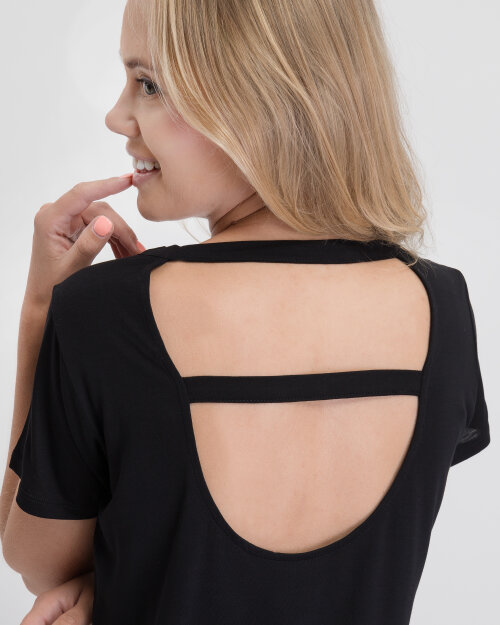 T-Shirt Na-Kd 1100-001865_BLACK czarny