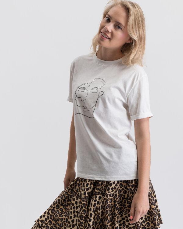 T-Shirt Na-Kd 1630-000001_OFF WHITE kremowy