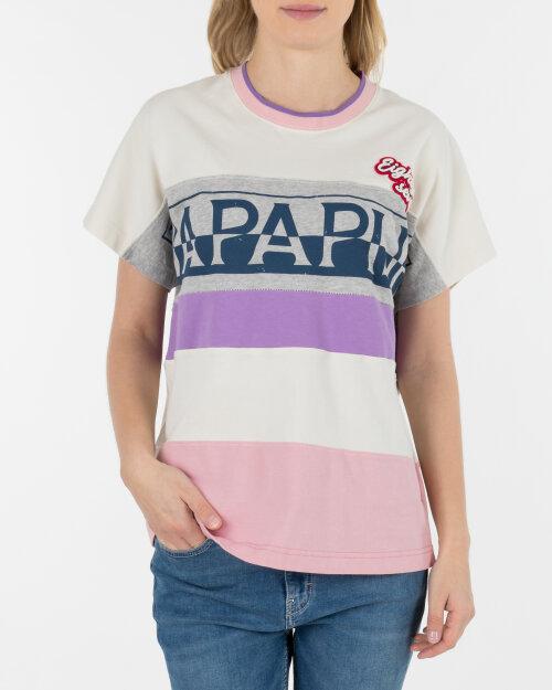 T-Shirt Napapijri N0YIIB_M54 kremowy