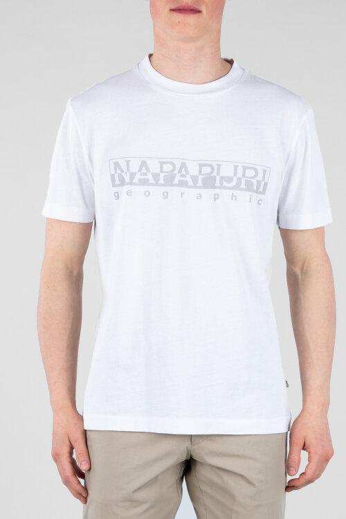 T-Shirt Napapijri N0YIJ9_2 biały
