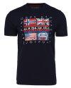 T-Shirt Napapijri N0YIJD_176 granatowy