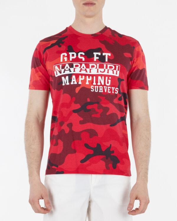 T-Shirt Napapijri N0YING_F13 czerwony
