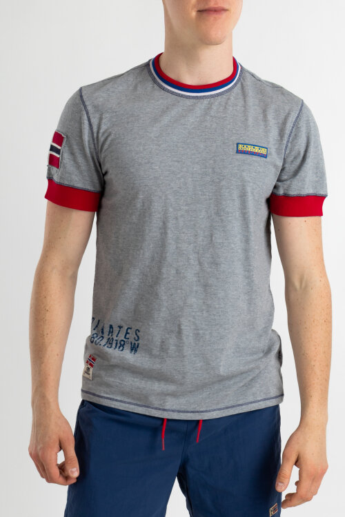 T-Shirt Napapijri N0YIFH_160 szary