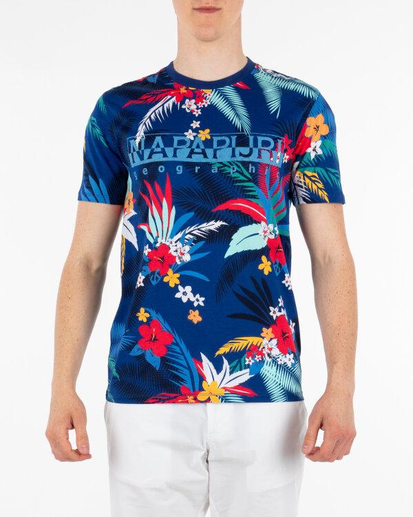 T-Shirt Napapijri N0YIFO_F21 granatowy