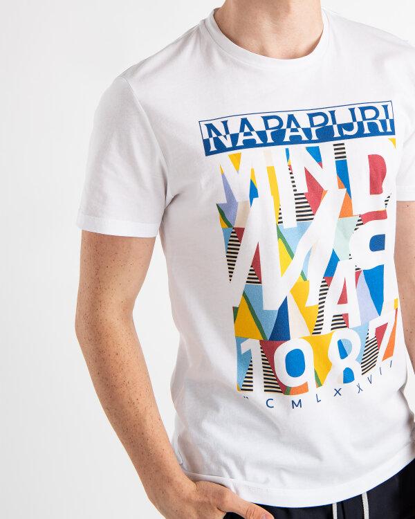 T-Shirt Napapijri N0YII4_F62 biały