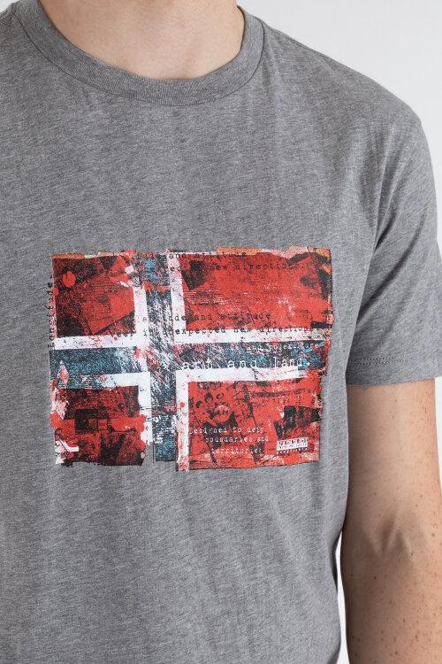 T-Shirt Napapijri N0YIJ4_160 szary