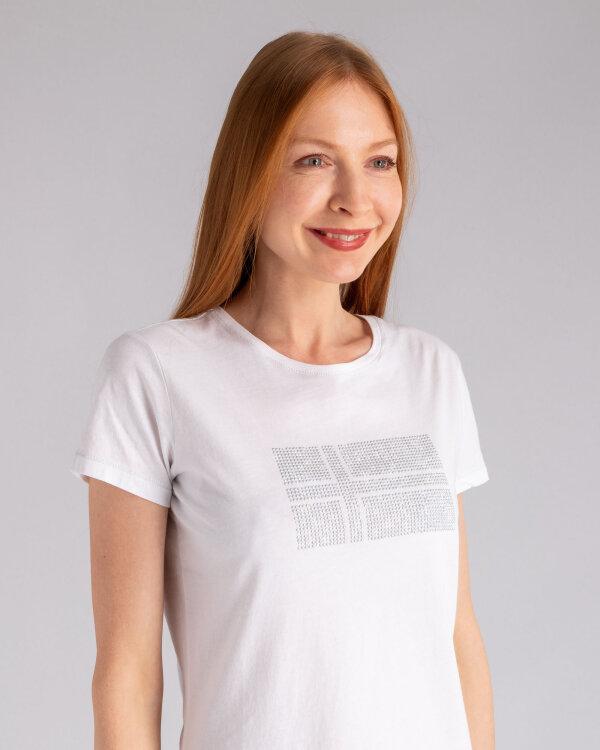 T-Shirt Napapijri N0YIK2_2 biały