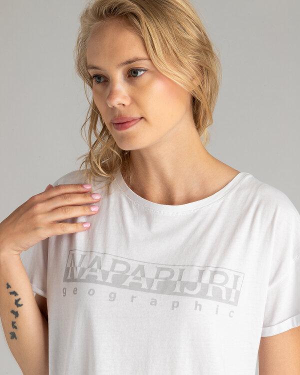 T-Shirt Napapijri N0YIKQ_2 biały