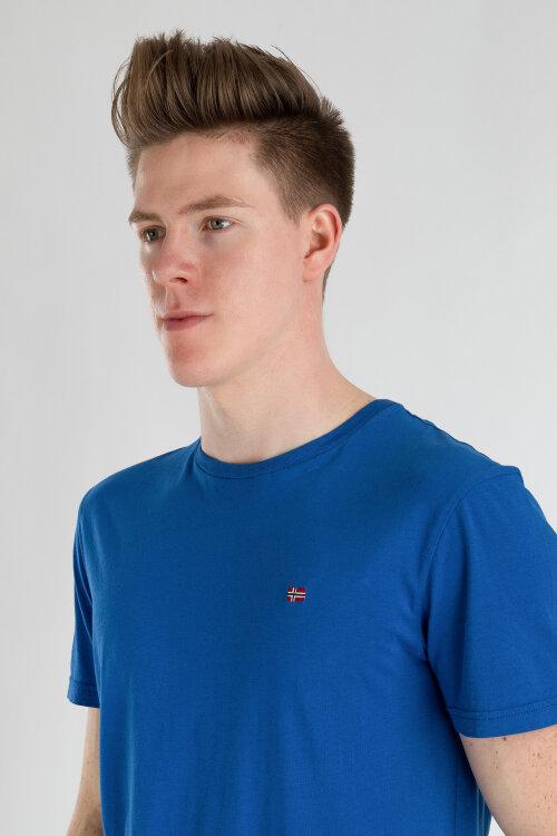 T-Shirt Napapijri N0YJAY_BC5 niebieski