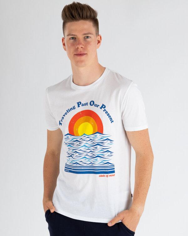 T-Shirt Napapijri N0YIFG_F38 biały