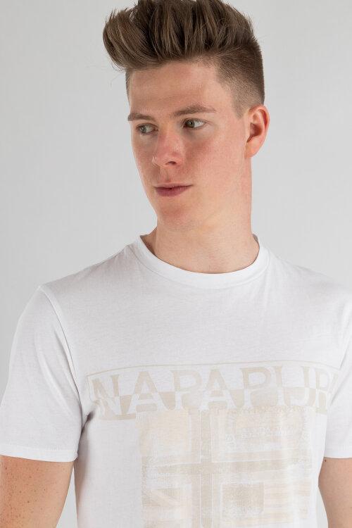 T-Shirt Napapijri N0YIJE_2 biały