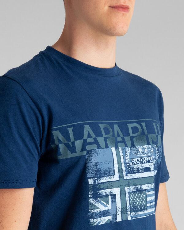 T-Shirt Napapijri N0YIJE_BD1 granatowy
