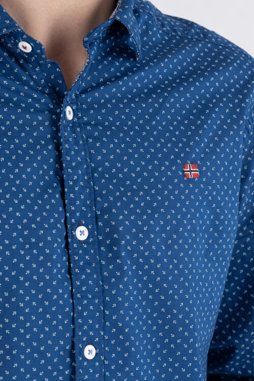 Koszula Napapijri N0YIDA_F01 niebieski