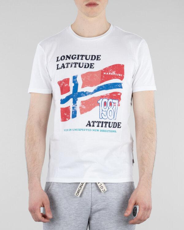 T-Shirt Napapijri N0YIFG_F64 biały