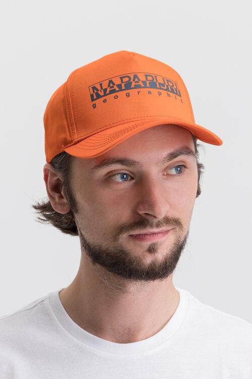 Czapka Napapijri N0YIHF_A44 pomarańczowy