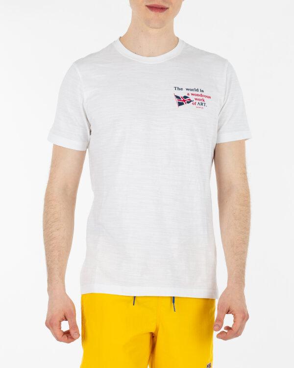 T-Shirt Napapijri N0YII1_F39 biały