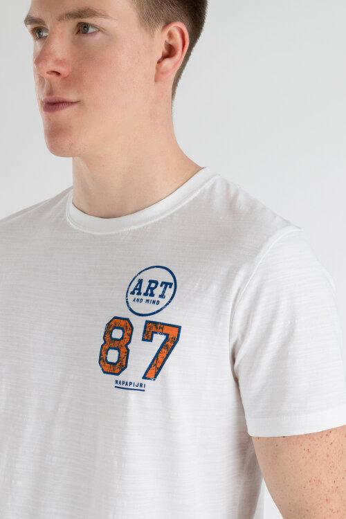 T-Shirt Napapijri N0YII1_F66 biały