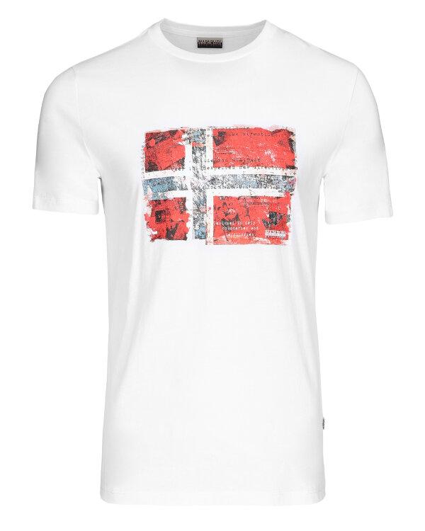 T-Shirt Napapijri N0YIJ4_2 biały
