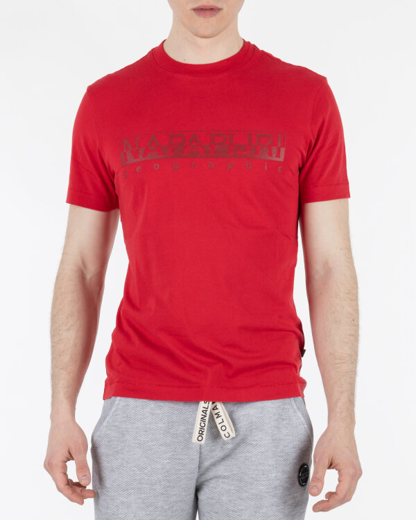 T-Shirt Napapijri N0YIJ9_R70 czerwony
