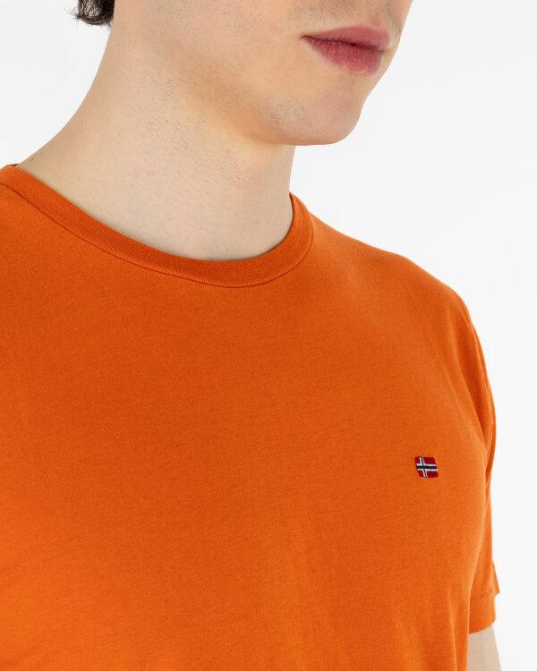 T-Shirt Napapijri N0YJAY_A44 pomarańczowy