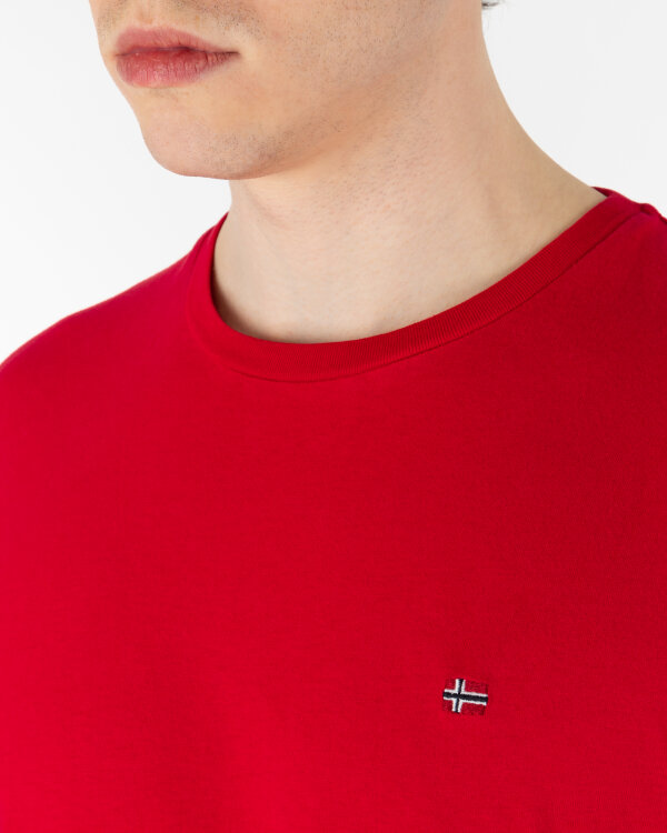 T-Shirt Napapijri N0YJAY_R70 czerwony