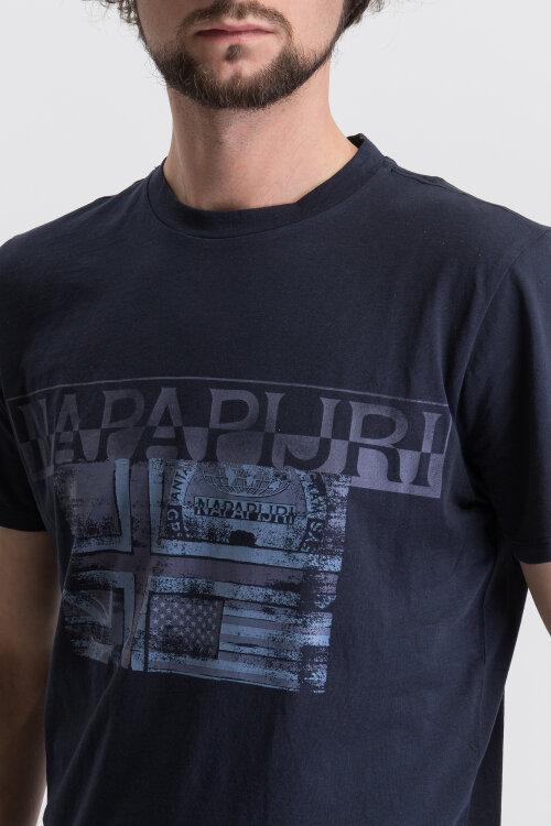 T-Shirt Napapijri N0Yije_176 Granatowy Napapijri N0YIJE_176 granatowy