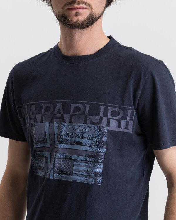 T-Shirt Napapijri N0YIJE_176 granatowy