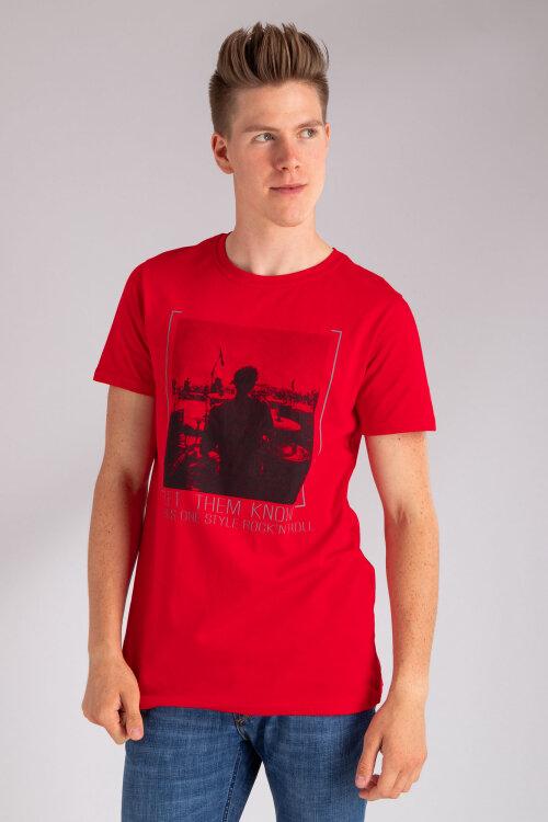T-Shirt Perso TCE 910000H_CZERWONY czerwony