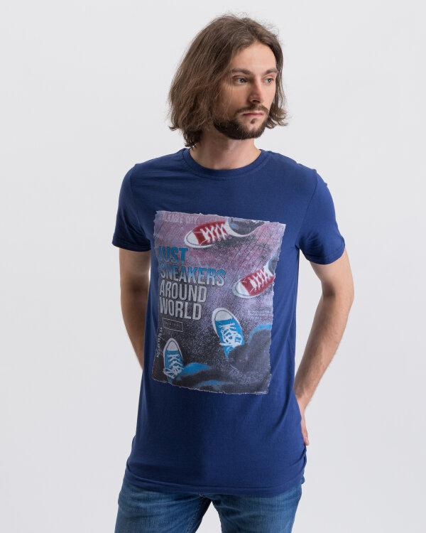 T-Shirt Perso TCE 910003H_GRANAT granatowy