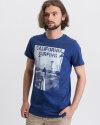 T-Shirt Perso TCE 910006H_JEANS niebieski