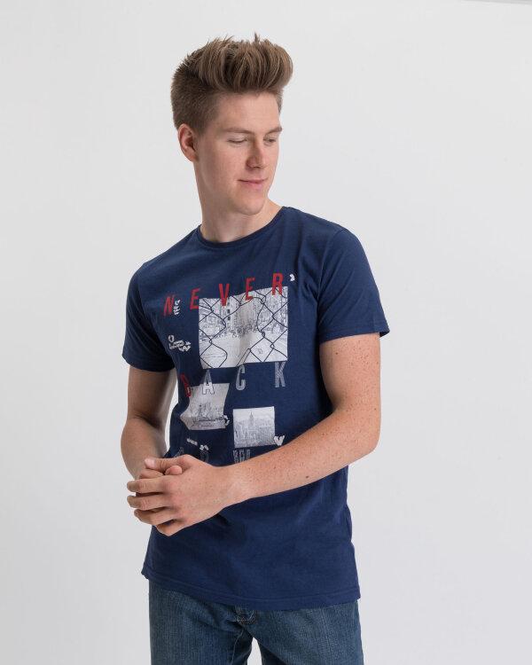 T-Shirt Perso TCE 910007H_GRANAT granatowy