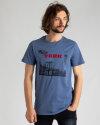 T-Shirt Perso TCE 910010H_JEANS niebieski
