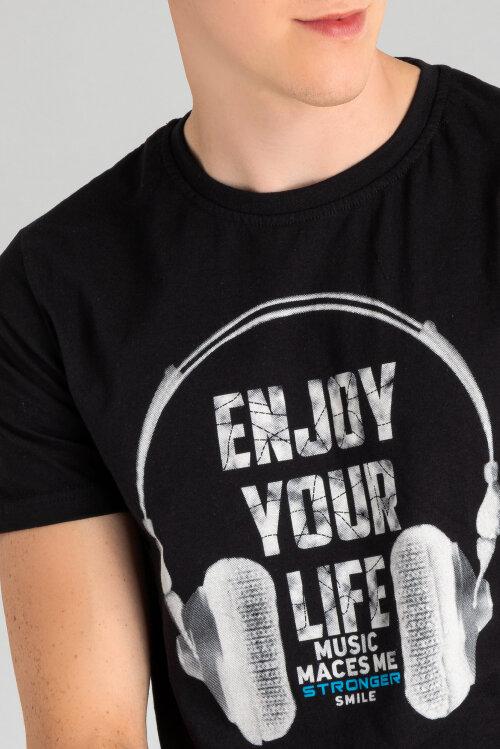 T-Shirt Perso TCE 910011H_CZARNY czarny