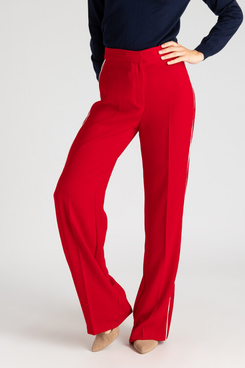 Spodnie Sinéquanone P001259_POMME D AMOUR czerwony